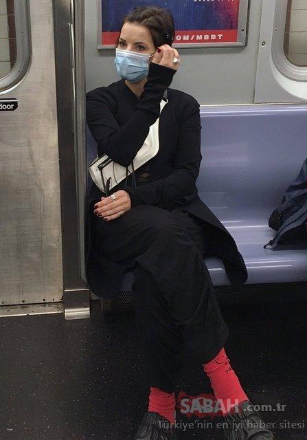 Ünlü oyuncu Jaimie Alexander metroda uyuyakaldı!
