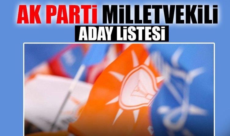 Ak Parti milletvekili adayları 2018 resmen açıklandı! Ak Parti'nin milletvekilleri aday listesi burada