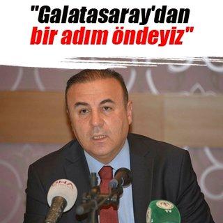 Galatasaray'dan bir adım öndeyiz