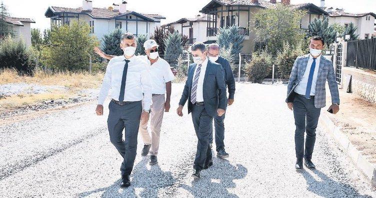 Gölbaşı'nda son bir ayda 21 km imar yolu açıldı