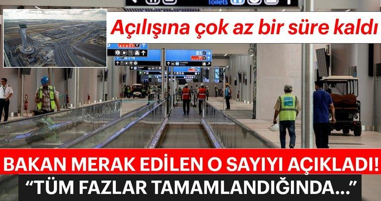Ulaştırma Bakanı Cahit Turhan üçüncü havalimanını inceledi