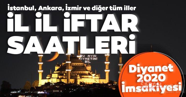 Diyanet Ramazan İmsakiyesi ile 30 Nisan iftar vakti saat kaçta? İstanbul, Ankara, İzmir, Antalya, Bursa iftar saati ve il il iftar saatleri