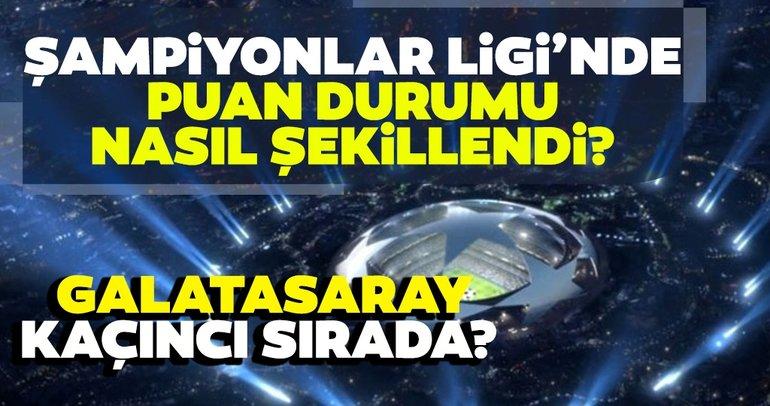 Şampiyonlar Ligi'nde puan durumu nasıl şekillendi? Galatasaray kaçıncı sırada? İşte güncel puanlar...