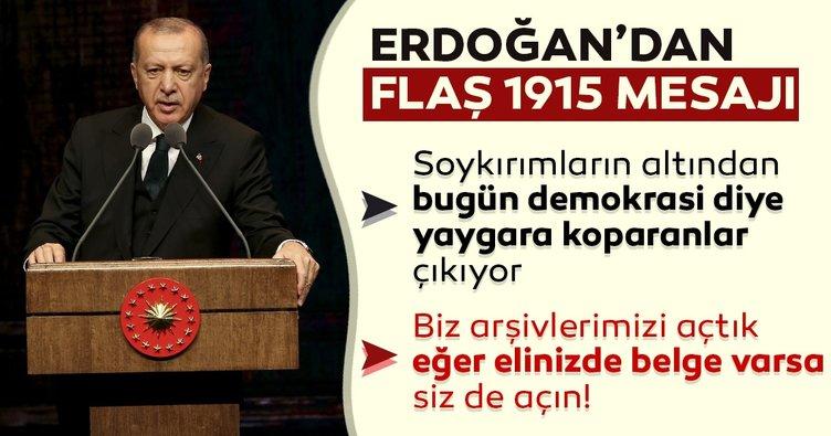 Başkan Erdoğan'dan Külliye'deki Arşiv Sempozyumu'nda önemli mesajlar