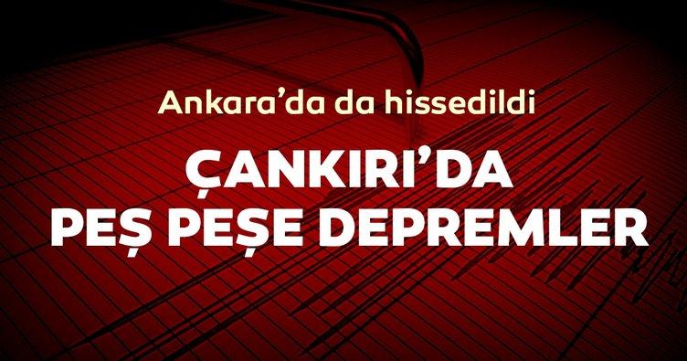 Son dakika: Çankırı'da deprem meydana geldi! Ankara'da da hissedildi