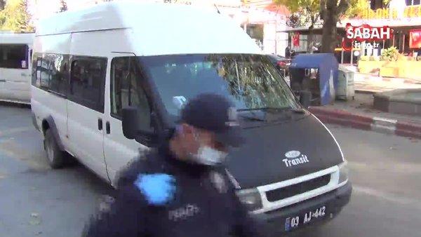Koronalı şoför dolmuş sürerken polis tarafından yakalandı | Video