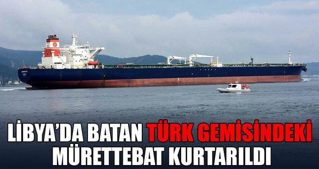 Libya açıklarında batan Türk gemisindeki 8 mürettebat kurtarıldı