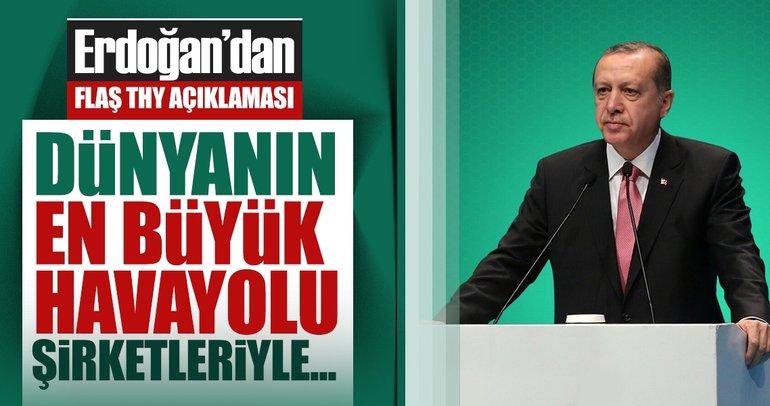 Cumhurbaşkanı Erdoğan Külliye'de THY Yurt Dışı temsilcilerini ağırladı