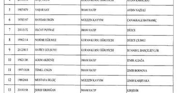 24 Aralık 2017 KHK ile göreve iade edilenlerin listesi! GÜNCEL
