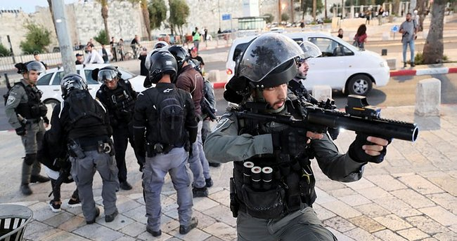 Son dakika: İsrail polisinden Hazreti Muhammed'e hakareti protesto eden Filistinlilere müdahale