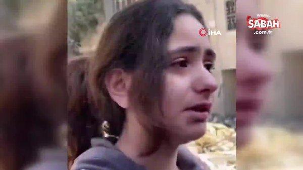 """Filistinli küçük kızdan yürek burkan soru: """"Neden füze atarak çocukları öldürüyorsunuz""""   Video"""