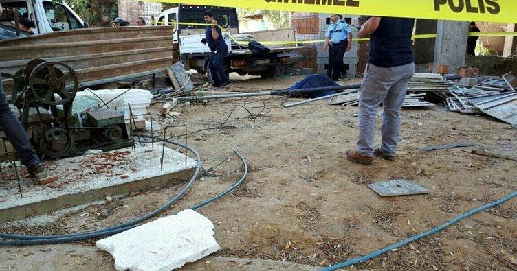 Konya'da inşaat iskelesi çöktü: 1 ölü
