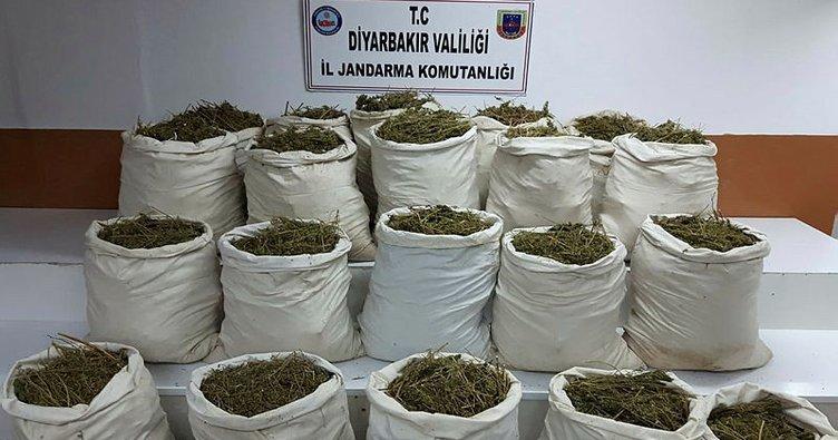Diyarbakır'da uyuşturucu ve el yapımı patlayıcı düzeneği ile geçirildi