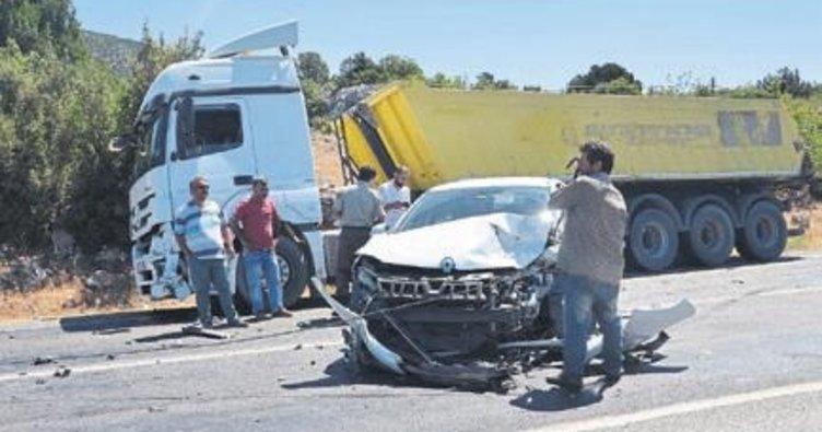 Akseki'de kaza ucuz atlatıldı