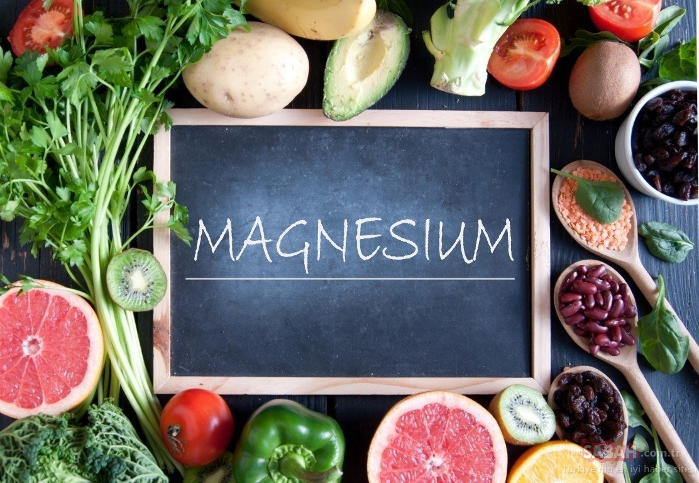 продукты и надпись магний