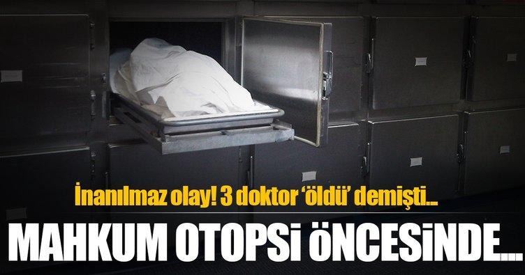 Üç doktorun 'öldü' dediği mahkum otopsiden önce uyandı