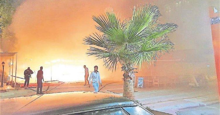 4 iş yeri yanarak kül oldu