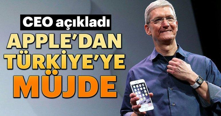 Apple'dan Türkiye'ye müjde... CEO Tim Cook açıkladı...