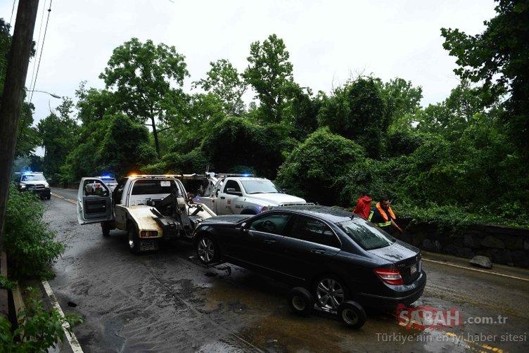 Sağanak yağmur Washington'u vurdu