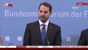 Hazine ve Maliye Bakanı Berat Albayrak: Almanya ile yeni dönem başladı.