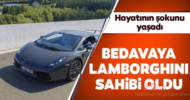 Hayatının şokunu yaşadı! Bedavadan Lamborghini sahibi oldu!