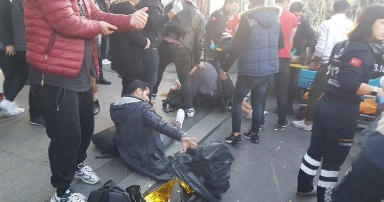 Son dakika: Beşiktaş'ta otobüs durağa daldı;...