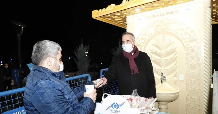 Sultangazi Belediyesi'nden soğuk kış gününde sıcak çorba: İkram Çeşmesi