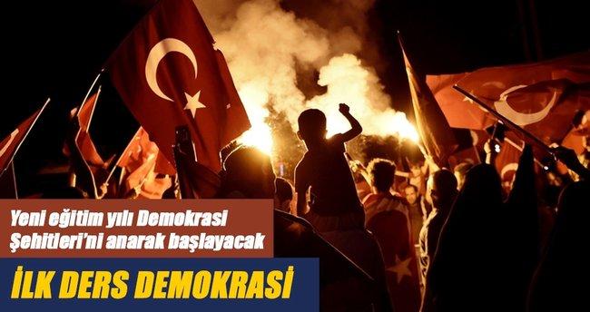 İlk ders demokrasi