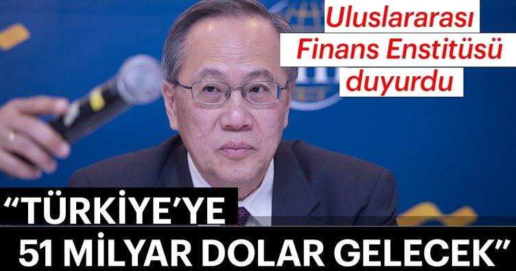 Uluslararası Finans Enstitüsü duyurdu! Türkiye'ye 51 milyar dolar gelecek