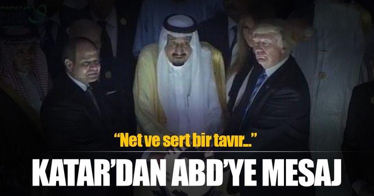 Katar'dan Amerika'ya net mesaj
