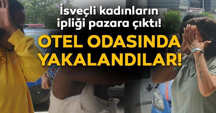 Telefon hırsızı İsveçli 3 kadın, otelde yakalandı