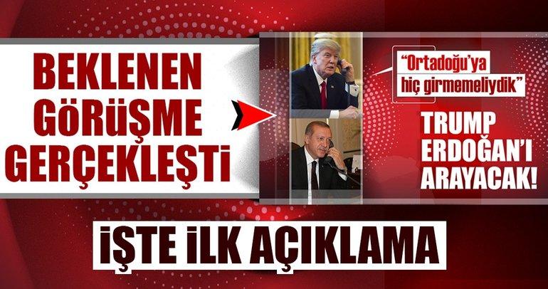 Son dakika: Cumhurbaşkanı Erdoğan ile Trump görüştü