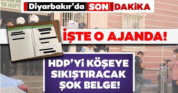 SON DAKİKA... HDP binasından PKK'nın kaçırdığı çocukların bilgileri olan ajanda çıktı