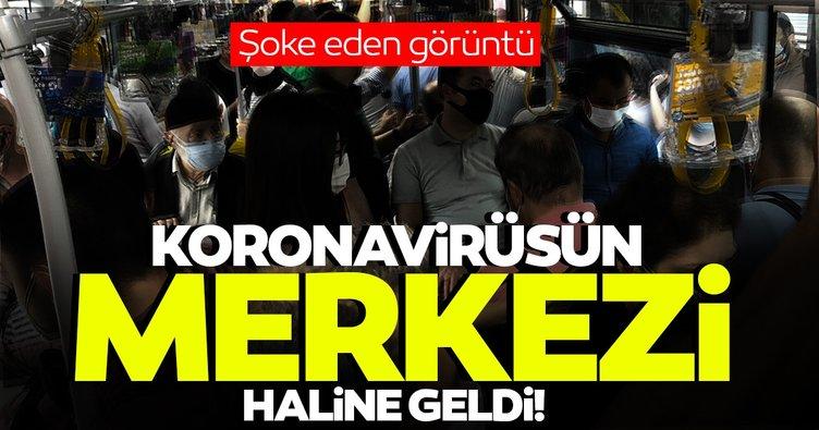 SON DAKİKA! İstanbul'da isyan ettiren görüntüler; Toplu taşıma koronavirüsün merkezi oldu