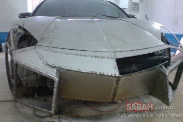 Lamborghini Aventador alamadı ama evinde yaptı! Genç adamın spor otomobilini görenler şoke oldu