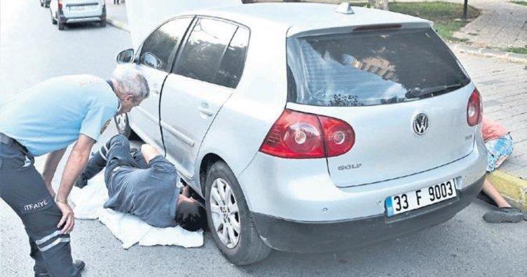 Yavrular sürücünün dikkatiyle kurtarıldı