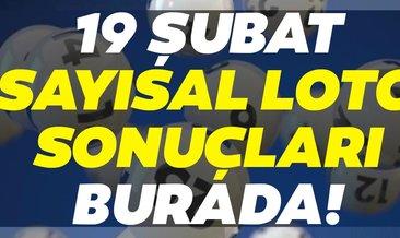 Sayısal Loto sonuçları belli oldu! Milli Piyango 19 Şubat Sayısal Loto çekiliş sonuçları ve MPİ hızlı bilet sorgulama ekranı BURADA...