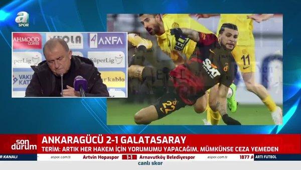 Son dakika Galatasaray haberleri: Fatih Terim'den Ankaragücü maçı sonrası flaş itiraf!