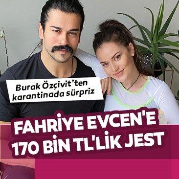 Burak Özçivit'ten fedakarlık gösteren eşi Fahriye Evcen'e büyük jest!