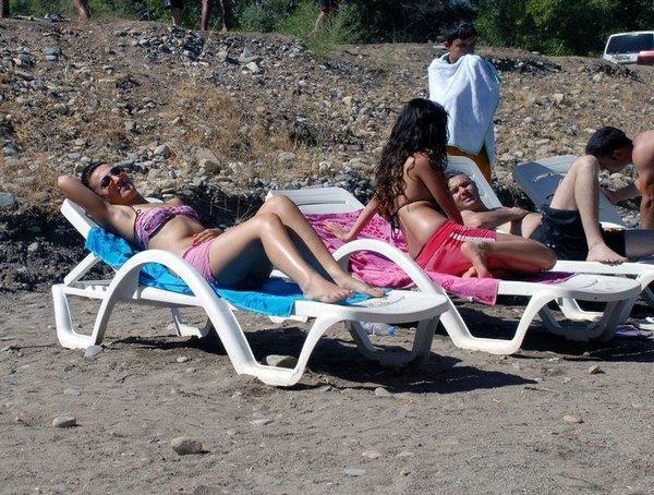Tunceli'de plaj keyfi