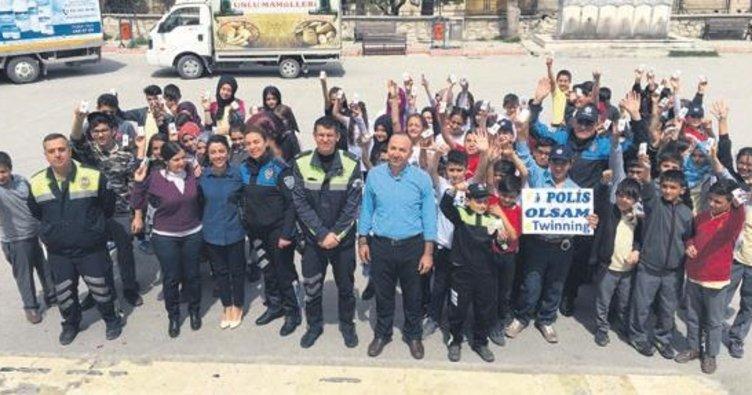 Öğrencilerden 'Polis Olsam' projesi