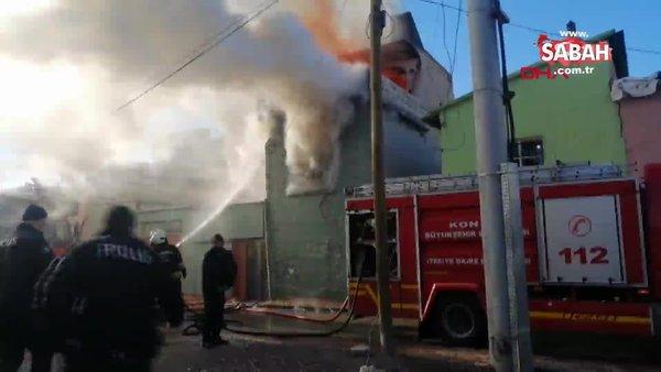 Son dakika:Konya'da yürekleri yakan yangın... Anne ve bebeği kurtarılamadı   Video