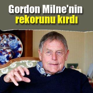 Hüseyin Eroğlu, Gordon Milne'nin rekorunu kırdı