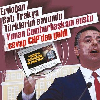Erdoğan`dan Yunanistan`a Lozan restine Yunanistan sessiz kaldı ses CHP`den geldi