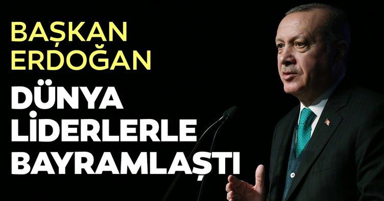 Başkan Erdoğan'dan liderlerle bayram görüşmesi