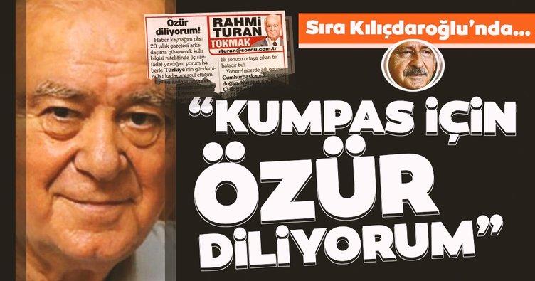 CHP'nin kurguladığı Külliye'ye giden CHP'li entrikası ile tepki çeken Rahmi Turan, Başkan Erdoğan'dan özür diledi