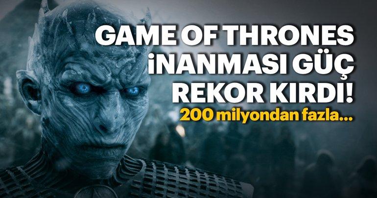 Game of Thrones inanması güç bir rekor kırdı!