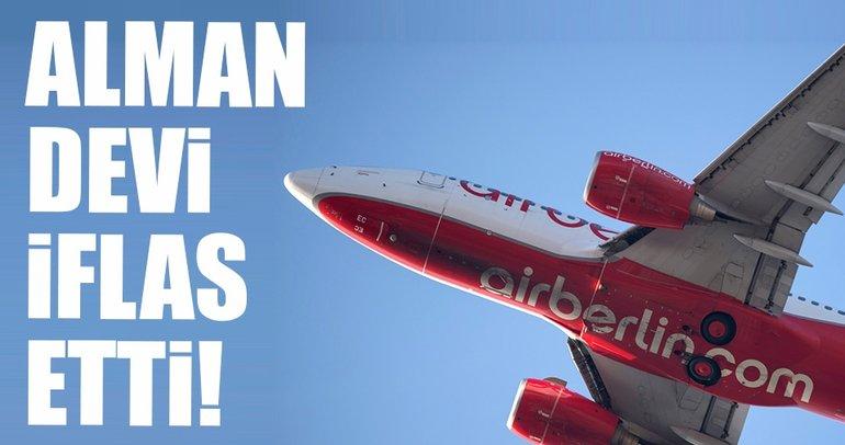 Alman devi Air Berlin iflasını verdi