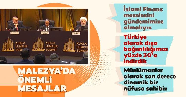 Başkan Erdoğan'dan Malezya'da önemli açıklamalar