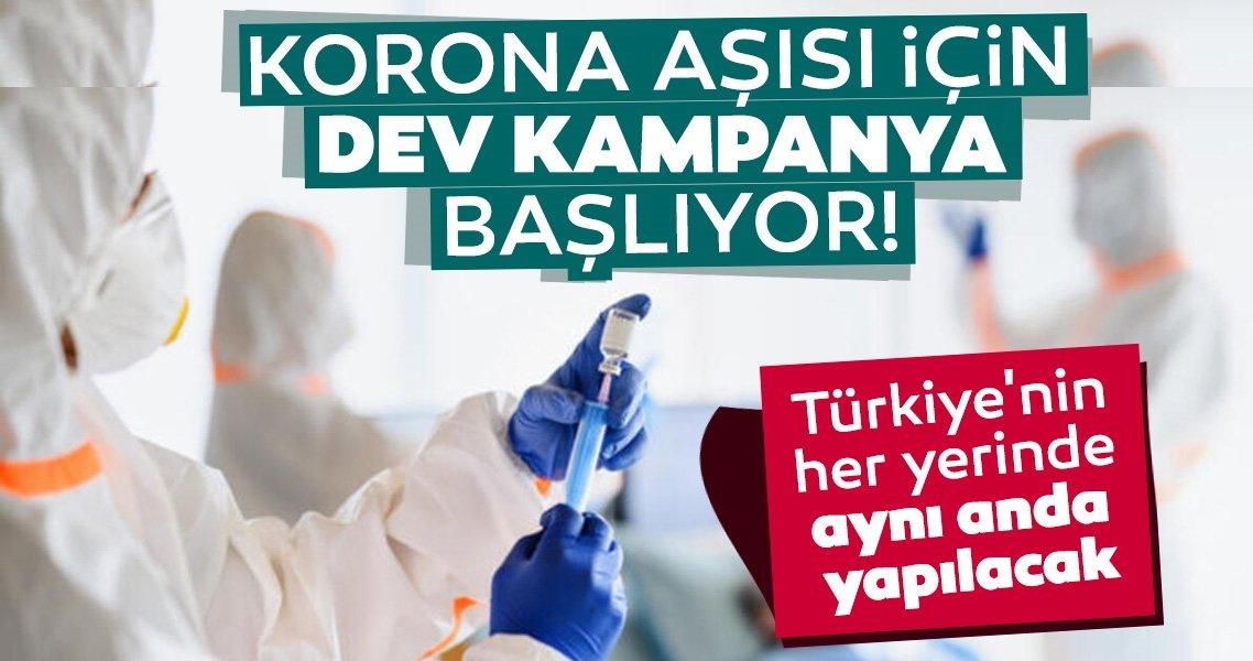 Son dakika haberleri: Corona virüs aşısı için dev kampanya! Türkiye'nin her yerinde aynı anda yapılacak...